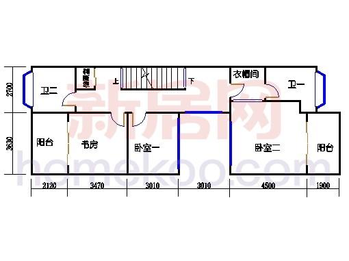 联排别墅A1单位二层
