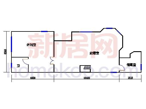 双排别墅G单位地下层
