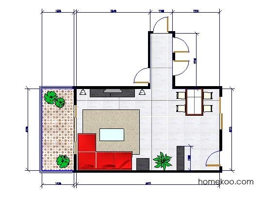 平面布置图斯玛特系列客餐厅G0413
