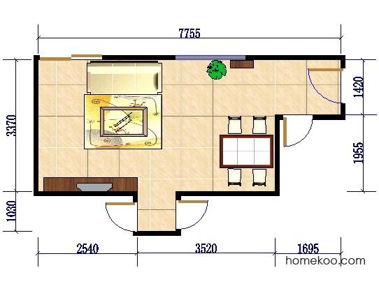 平面布置图格瑞丝系列客餐厅G0417