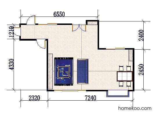 平面布置图贝斯特系列客餐厅G0483