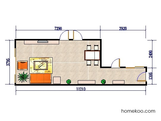平面布置图柏俪兹系列客餐厅G0515