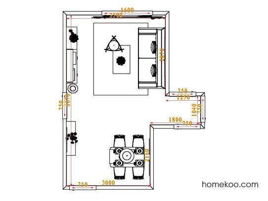 平面布置图德丽卡系列客餐厅G0562