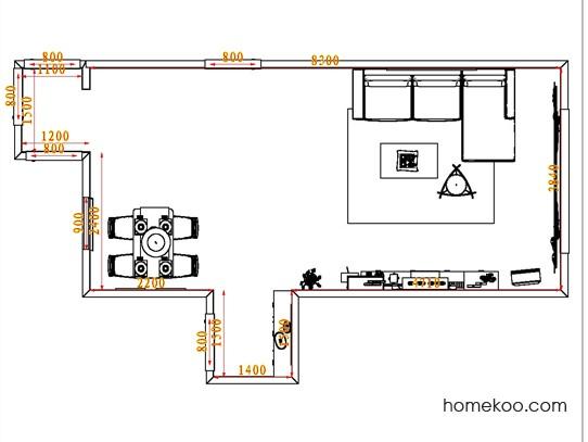 平面布置图柏俪兹系列客餐厅G0574