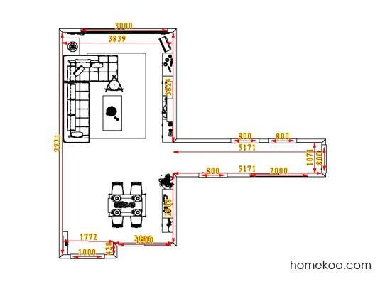 平面布置图格瑞丝系列客餐厅G0597
