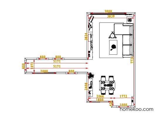 平面布置图柏俪兹系列客餐厅G0598