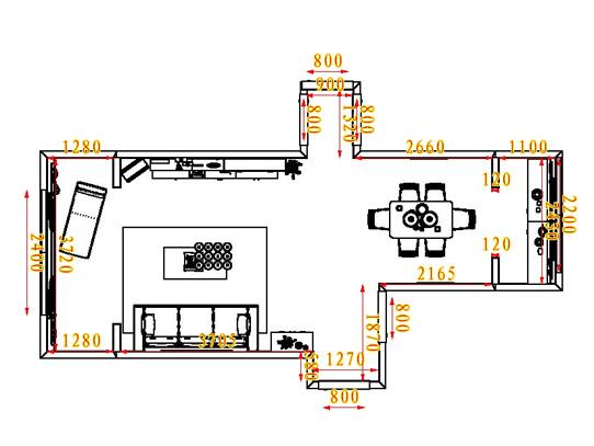平面布置图乐维斯系列客餐厅G0758