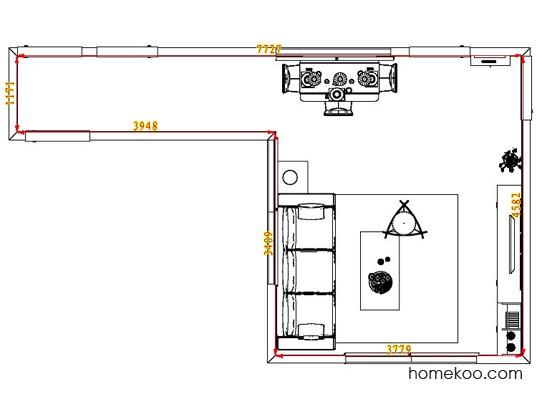 平面布置图格瑞丝系列客餐厅G0761