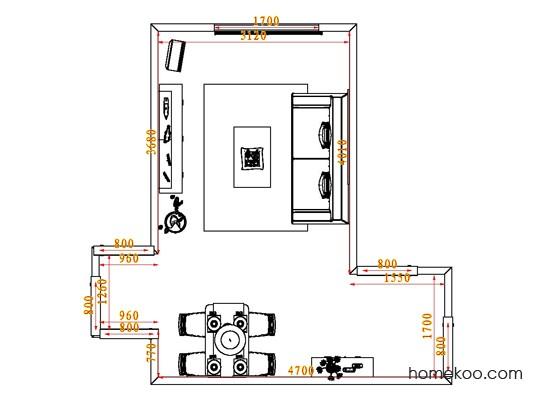平面布置图柏俪兹系列客餐厅G0637