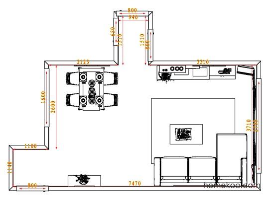 平面布置图柏俪兹系列客餐厅G0644