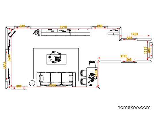 平面布置图德丽卡系列客餐厅G0646
