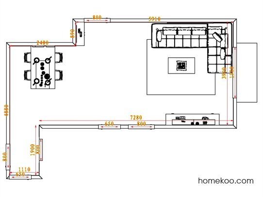 平面布置图德丽卡系列客餐厅G0649