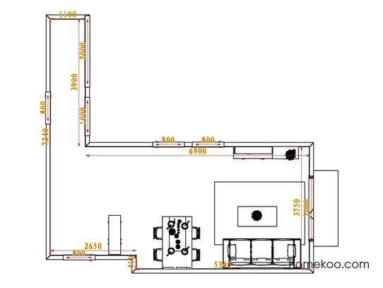 平面布置图柏俪兹系列客餐厅G0660