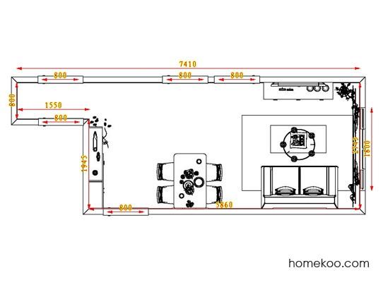平面布置图德丽卡系列客餐厅G0666