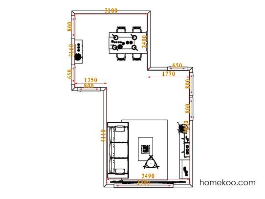 平面布置图乐维斯系列客餐厅G0669