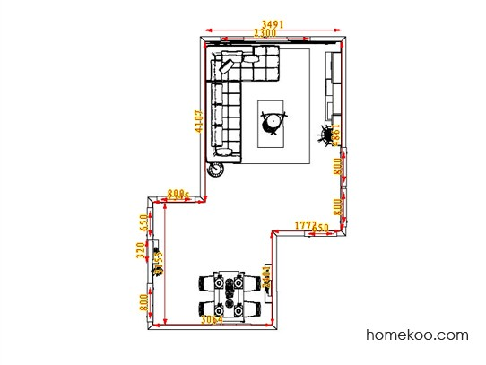 平面布置图贝斯特系列客餐厅G0677