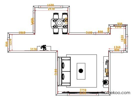 平面布置图乐维斯系列客餐厅G0696
