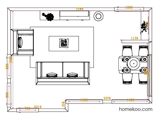 平面布置图乐维斯系列客餐厅G0697