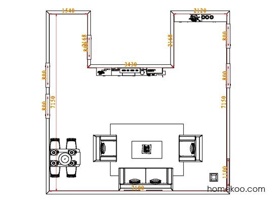 平面布置图格瑞丝系列客餐厅G0701