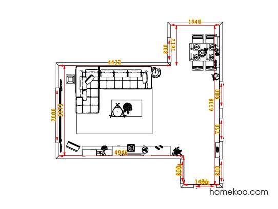 平面布置图德丽卡系列客餐厅G0709