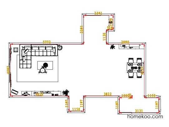 平面布置图斯玛特系列客餐厅G0711