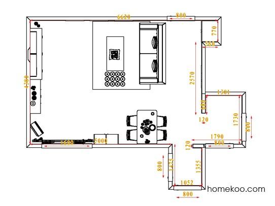 平面布置图乐维斯系列客餐厅G0723