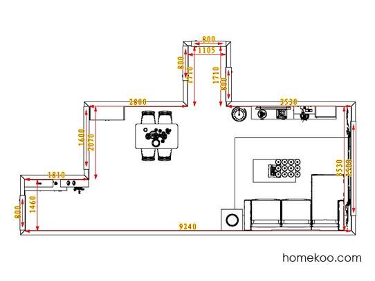 平面布置图斯玛特系列客餐厅G0734