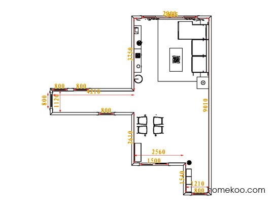 平面布置图斯玛特系列客餐厅G0741