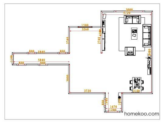 平面布置图德丽卡系列客餐厅G0748