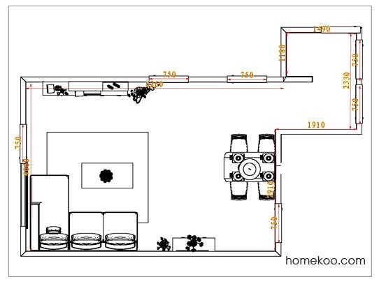 平面布置图贝斯特系列客餐厅G0768