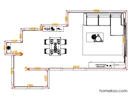 平面布置图斯玛特系列客餐厅G0775