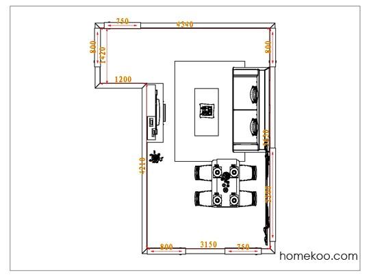 平面布置图德丽卡系列客餐厅G0778