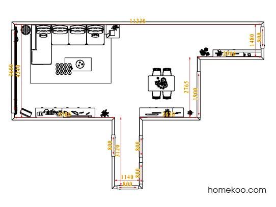 平面布置图柏俪兹系列客餐厅G0784