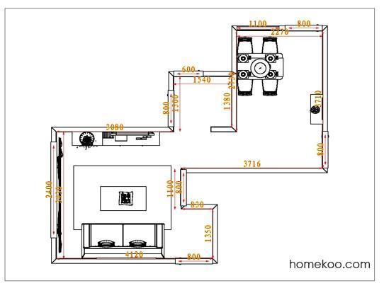 平面布置图格瑞丝系列客餐厅G0789