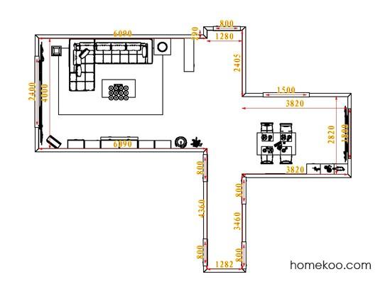 平面布置图贝斯特系列客餐厅G0794