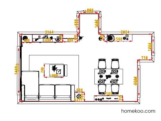 平面布置图德丽卡系列客餐厅G0797