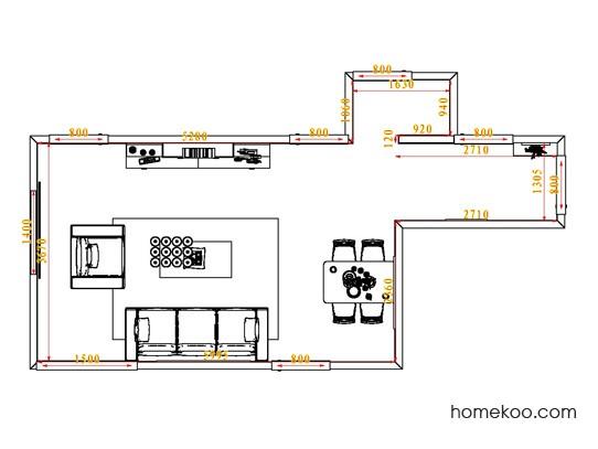 平面布置图贝斯特系列客餐厅G0805