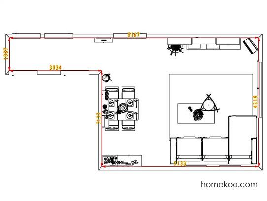 平面布置图德丽卡系列客餐厅G0808