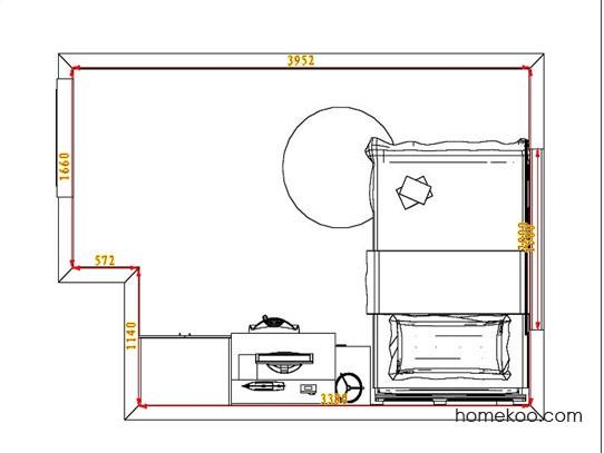 平面布置图德丽卡系列青少年房B3179