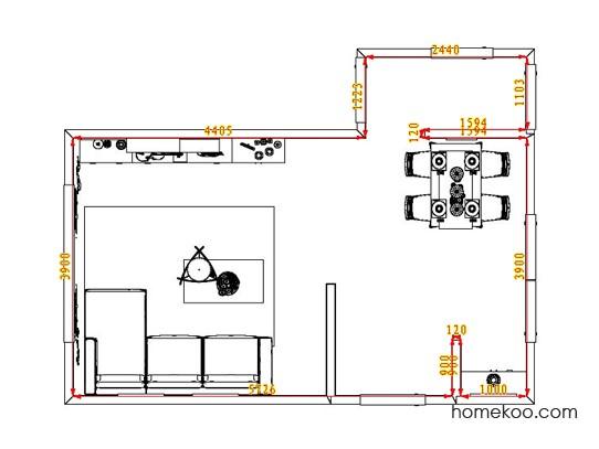 平面布置图贝斯特系列客餐厅G0838
