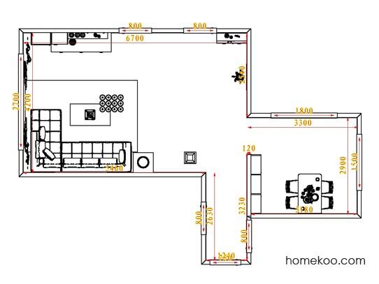 平面布置图格瑞丝系列客餐厅G0845