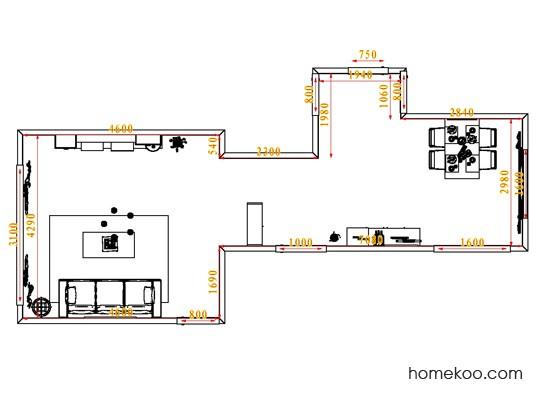 平面布置图柏俪兹系列客餐厅G0849