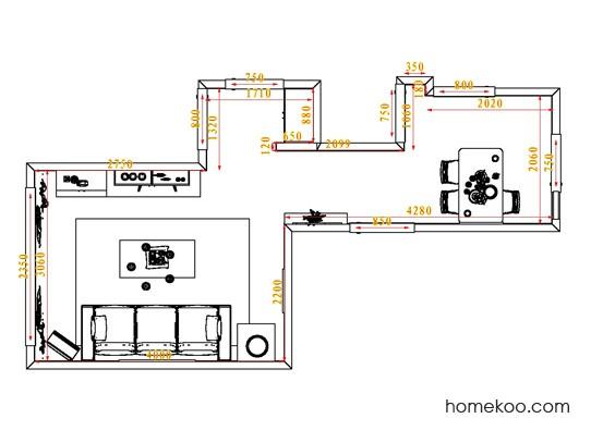 平面布置图乐维斯系列客餐厅G0853