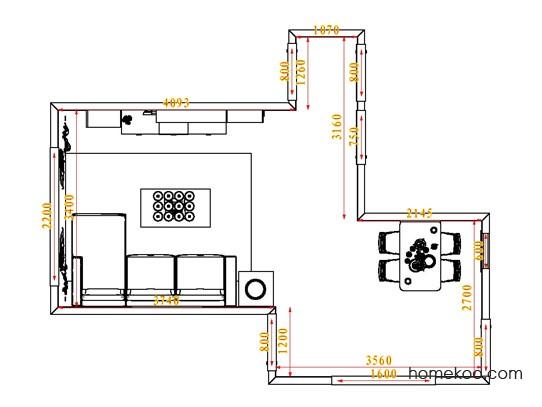 平面布置图斯玛特系列客餐厅G0867