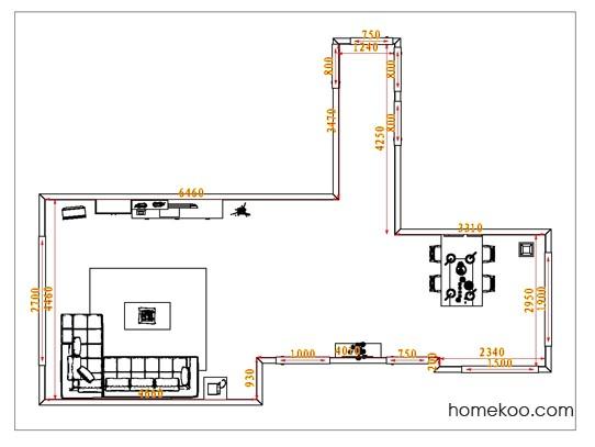 平面布置图德丽卡系列客餐厅G0886