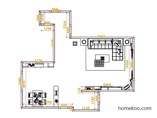 平面布置图德丽卡系列客餐厅G0903