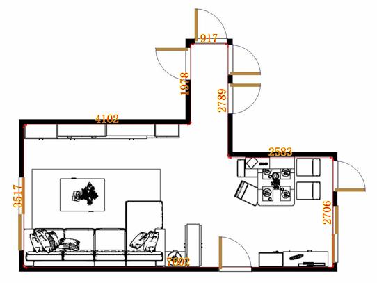 平面布置图德丽卡系列客餐厅G0919