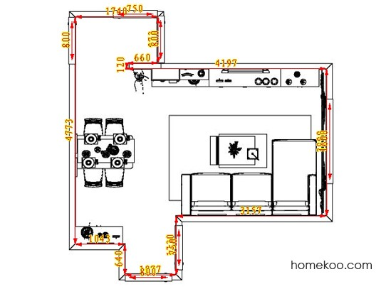 平面布置图德丽卡系列客餐厅G0921