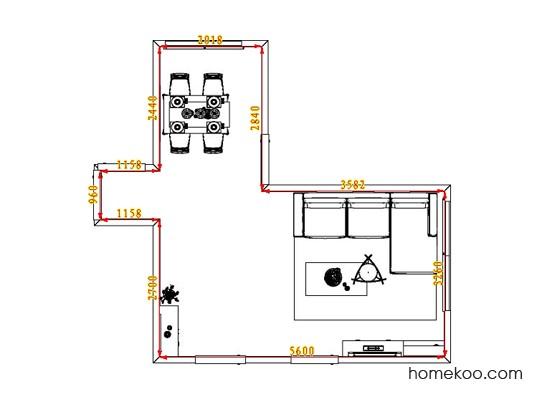 平面布置图乐维斯系列客餐厅G0933