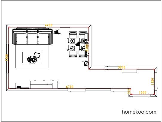 平面布置图德丽卡系列客餐厅G0950